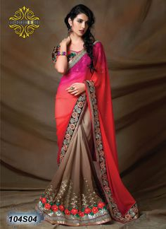 104s Designer sarees, wedding sarees, partywear sarees for more detail about fabric, color & price whatsapp 9904476333