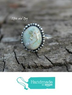 California Blue Green Jasper set in Sterling Silver Ring - Size 6 from Silver and Slag http://www.amazon.com/dp/B01BE1C1ZA/ref=hnd_sw_r_pi_dp_ZPW5wb16V3MYN #handmadeatamazon