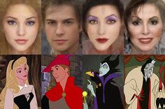 Israeli artist Karen Graw, who works under the name 'Avalonis', has brought to life the characters that have captivated millions of us in these incredible illustrations. (Left to right) Aurora, Prince Philip, Maleficent, Cruella De Vil