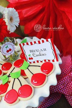 PRINTABLE Fancy Labels - Cherry Picnic Party Collection - The TomKat Studio. $6.50, via Etsy.