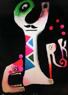 [1976] JAN LENICA (1928-2001) Contexto: Años 60 ÉPOCA DORADA de la escuela del cartel polaco. >>Tendencia hacia la METAFÍSICA y el SURREALISMO. Su estilo: _1º COLLAGE surrealista. _2º REINTERPRETACIÓN DEL ART NUVEOU. _LÍNEAS DE CONTORNO estilizadas y fluidas, dividiendo en zonas coloreadas. _Figuras ORGÁNICAS / SINUOSO _Amplia paleta CROMÁTICA
