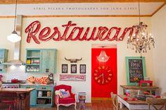 jolie's kitchen featuring fleamarket finds! photo cred: april pizana