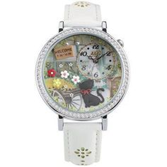 Didofa Women's wrist 3D watch DF-1078B  Lets face it we all love cats.  You can show your passion for cats by wearing cute cat jewelry for women.  You will find all kinds of pretty kitty jewelry that you will absolutely love.  If you are a statement necklace person then a cat statement necklace would be ideal.  I love the look of cat wrist watches along with some of the cute cat brooches and pins.  However cat rings and bracelets would make a great gift for the crazy cat lady in your life.