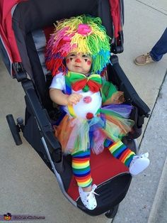 Sarah: My 8 month old daughter is wearing the Clown costume. I purchased the wig and leg warmers online. I made the tutu out of a headband and tulle, I also...