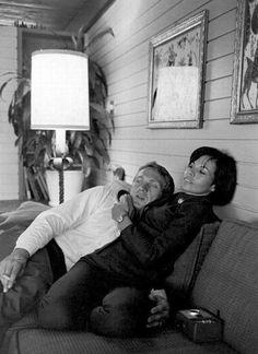 Steve McQueen and his wife Neile Adams.