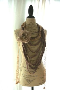 Brown fall necklace bohemian gypsy cowgirl by TrueRebelClothing, $50.00