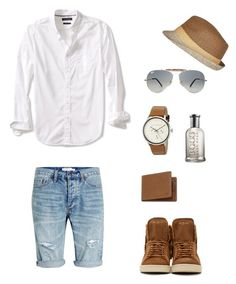 """first time to style men's clothes!"" by kookita-sweet on Polyvore featuring Topman, Banana Republic, Ray-Ban, River Island, Yves Saint Laurent, Ted Baker, Mulberry, HUGO, men's fashion and menswear"