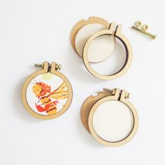 """1.6"""" Mini Embroidery Hoops (3 Pack)"""
