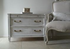 from Burlap luxe Furniture, Rustic Chic, Shabby Chic Dresser, Gustavian Style, White Shabby Chic, Shabby, Painted Chest, Dresser, Dresser As Nightstand