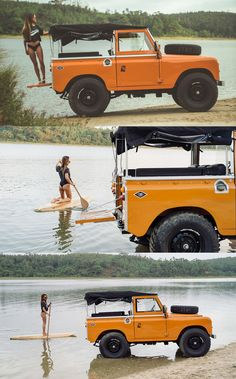 Defender 90, Land Rover Defender, 4x4, Foto Picture, Land Rover Series 3, Sup Stand Up Paddle, Beach Cars, Expedition Vehicle, Cute Cars