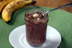 Banana Chocolate Refrigerator Oatmeal... Yum!