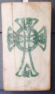 Celtic Cross Irish St. Patrick's Day by HotShotPalletworks on Etsy