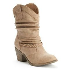 e5d8bbd1c799 Get a cool western look wearing these women s SO cowboy boots.