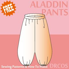 Aladdinpants sewing patterns & how to make