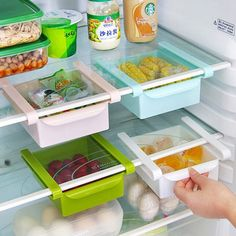 Pull out storage refrigerator fresh glove box 4 color options-in Storage Boxes & Bins from Home & Garden on Aliexpress.com   Alibaba Group
