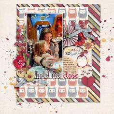 Cozy Time by Neia Scraps Designs, part of The Digi Files 93 for Sept 2016 https://thedailydigi.com/neia-scraps-cozy-time Fonts are Stamp and Always In My Heart  Watch me scrap this layout: https://youtu.be/68LQyoHE21Y