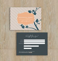 Elegant blossom gift certificate template - Instant download on Etsy, $9.02 AUD