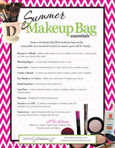 www.diangegottsman.com - summer make up essentials