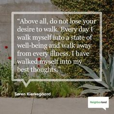 Just keep walking. Just Keep Walking, Walking For Health, Kierkegaard Quotes, Soren Kierkegaard, Benefits Of Walking, Good Thoughts, Health And Wellbeing, Along The Way, Good Advice