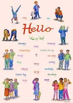 391 best hi hello greetings images on pinterest good morning multilingual poster hello in 36 languages m4hsunfo