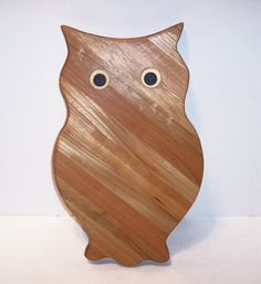 Big OWL  Cutting Board Handcrafted from Mixed by tomroche on Etsy