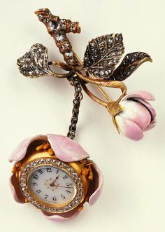 Lapel Watch, ca. 1889, US Designed by Paulding Farnham Made by Tiffany and Co., New York