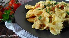 Questa pasta con salsiccia, pomodorini e crema di ricotta allo zafferano si contraddistingue per la sua cremosità avvolgente. Da provare!