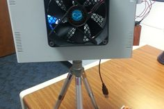 Check out this littleBits project! Littlebitty air conditioner