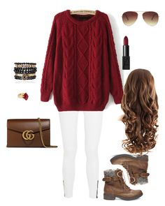 """""""When fall comes"""" by emmalee-r-floyd on Polyvore featuring rag & bone, Steve Madden, Lola Rose, Samantha Wills, Gucci, Forever 21 and NARS Cosmetics"""