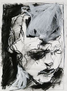 Tim Dayhuff - drawing - charcoal and white pastel on paper - 11x14 in - Jan 2015