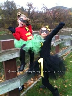 Girly Batman and Robin Costumes… Coolest Halloween Costume Contest