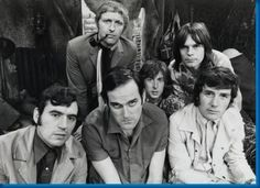 Monty Python Vintagebw Ensemble Pic poster Metal Sign Wall Art 8in x 12in