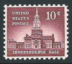 10c Independence Hall .. issue of 1956 .. New store listing featuring INDEPENCE HALL in Philadelphia, Pennsylvania. Pack of 10 unused mint stamps. #treasureFox, #vintagestamps, #vintagepostage, #philadelphia, #indepencene Sold on Etsy  TreasureFox