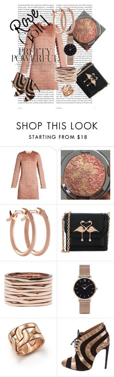 """""""Rose Gold"""" by clschmauder ❤ liked on Polyvore featuring Oris, Raey, Pori, Sophia Webster, Repossi, CLUSE, Pomellato, rose, jewelry and women"""