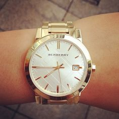 Burberry Watch...SUPER LOVE! Somebody buy me this. Puh-lease.
