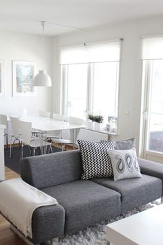 white and grey. nordic interior.