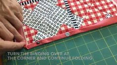 Self binding a quilt or using the back of the quilt to make the binding