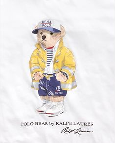 Polo Shirt Design, Polo Design, Tous Baby, Teddy Bear Drawing, Ralph Lauren Logo, Bear Graphic, Bear Illustration, Bear Logo, Women Brands