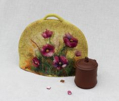 Felt Tea Cosy wool felted coffee cosy Hand made by FeltyPretties, $39.50 Beautiful..ck