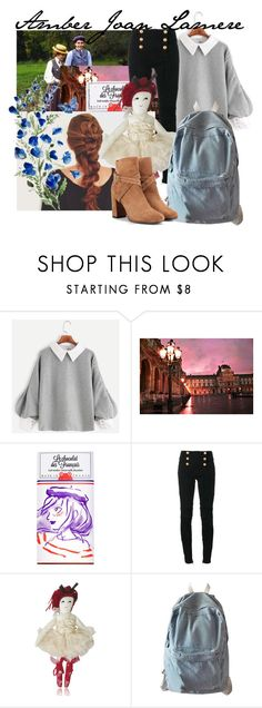 """New oc! Amber Lamere"" by wibbly-wobbly-timey-wimey-dork on Polyvore featuring Balmain, WithChic and Yves Saint Laurent"