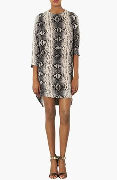 Topshop Snake Print Tunic Dress available at #Nordstrom   80.00