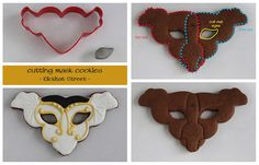 Venetian Masquerade cookie cut with flying heart cookie cutter