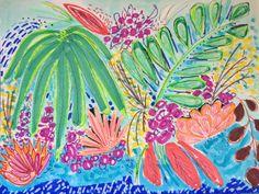 Expressive flower painting. Abstract floral painting. Bohemian art. Available as print and original.  prints: http://fineartamerica.com/profiles/rosalina-bojadschijew.html  etsy: https://www.etsy.com/shop/ArtontheMoonstudio  website: www.artonthemoon.com
