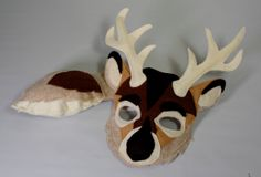 Buck the White Tailed Deer Mask and Tail for by HuntingFaeries - Etsy