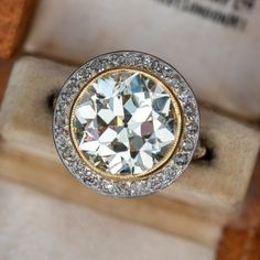 Vintage Engagement Rings | Antique Diamond Rings | EraGem Estate Engagement Ring, Emerald Cut Diamond Engagement Ring, Emerald Cut Diamonds, Antique Engagement Rings, Diamond Cuts, Antique Diamond Rings, Beautiful Rings, Wedding Rings, Gemstones