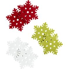 Set of 6 Snowflake Coasters in Christmas Entertaining   Crate and Barrel