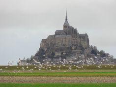 Mont Saint-Michel near Normandy France
