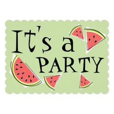 #stylish - #Watermelon Pieces Green It's a Party invitation