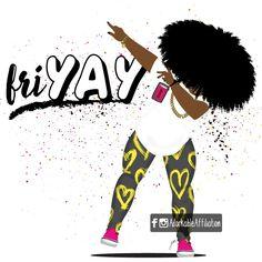Black Girl Art, Black Women Art, Black Girls Rock, Black Girl Magic, African American Art, African Art, Natural Hair Art, Black Art Pictures, Black Cartoon
