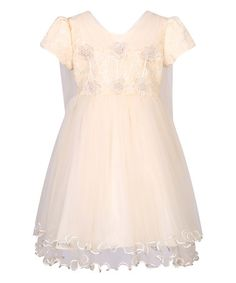 Love this Daffodil Lace-Accent Party Princess Dress - Toddler & Girls on #zulily! #zulilyfinds